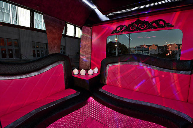 OKC Bachelorette Company Pink Party bus