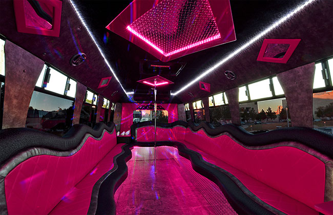 Pink Bachelorette Party Bus Rental Company